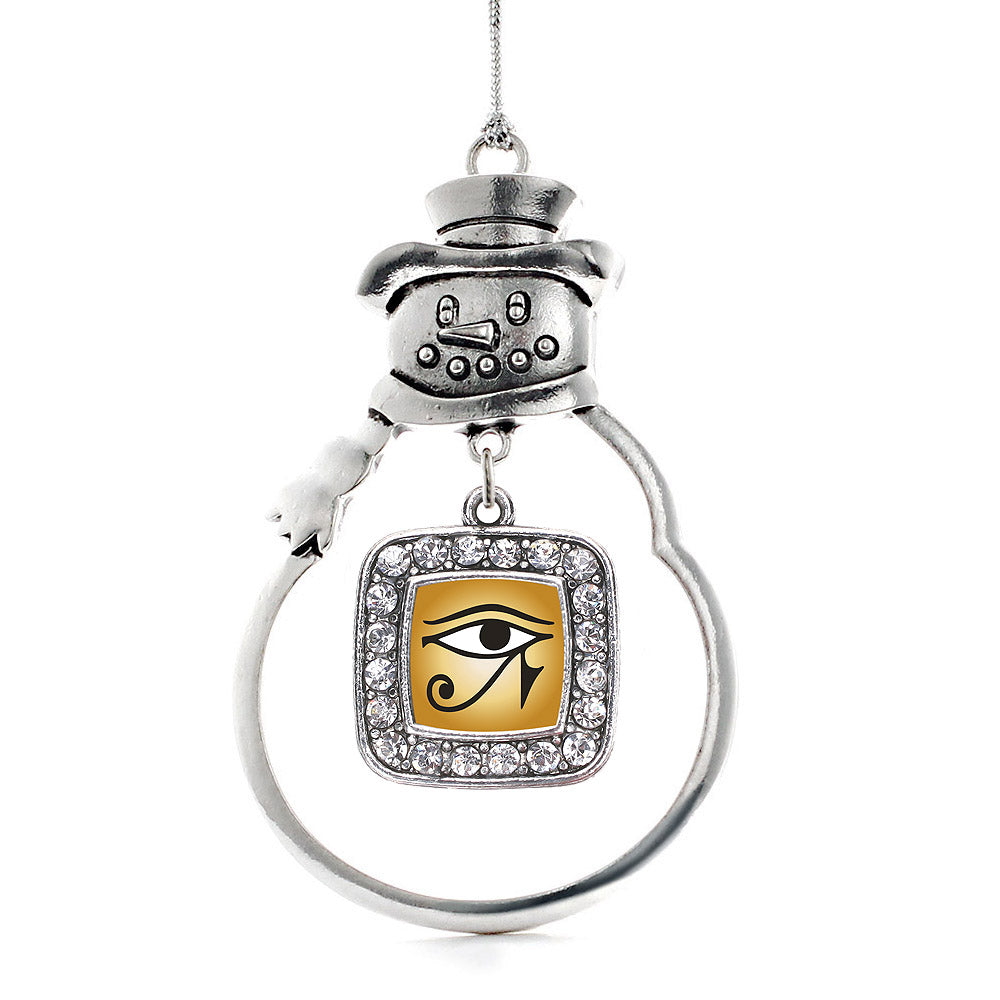 Eye Of Ra Square Charm Christmas / Holiday Ornament