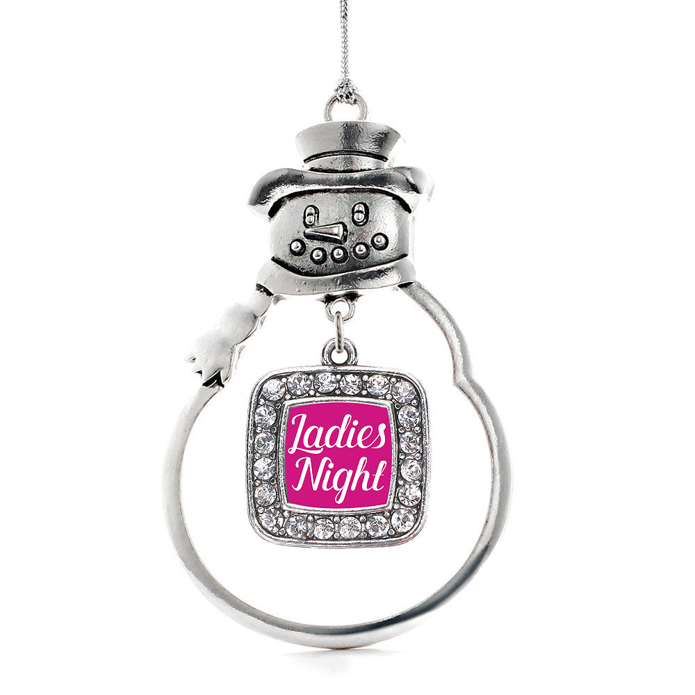 Ladies Night Square Charm Christmas / Holiday Ornament