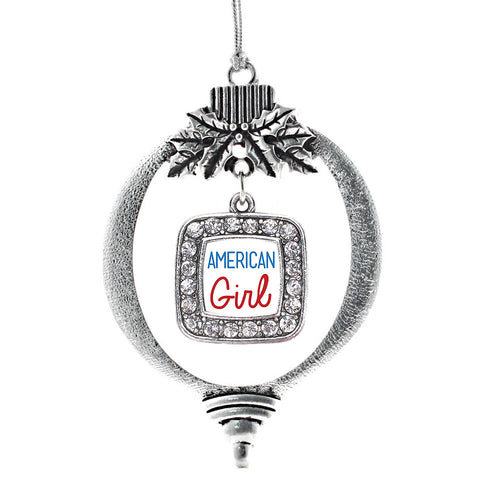 American Girl Square Charm Christmas / Holiday Ornament
