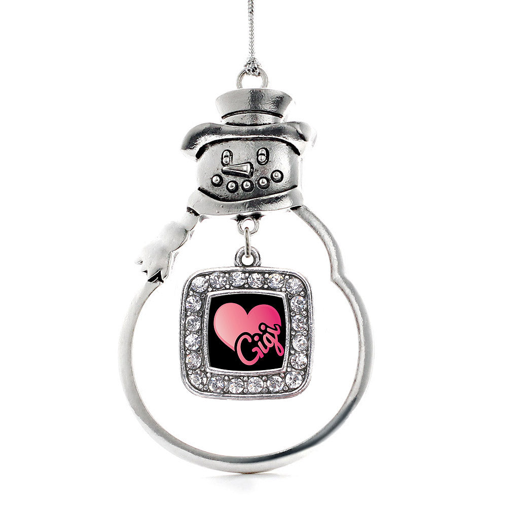 Gigi Square Charm Christmas / Holiday Ornament