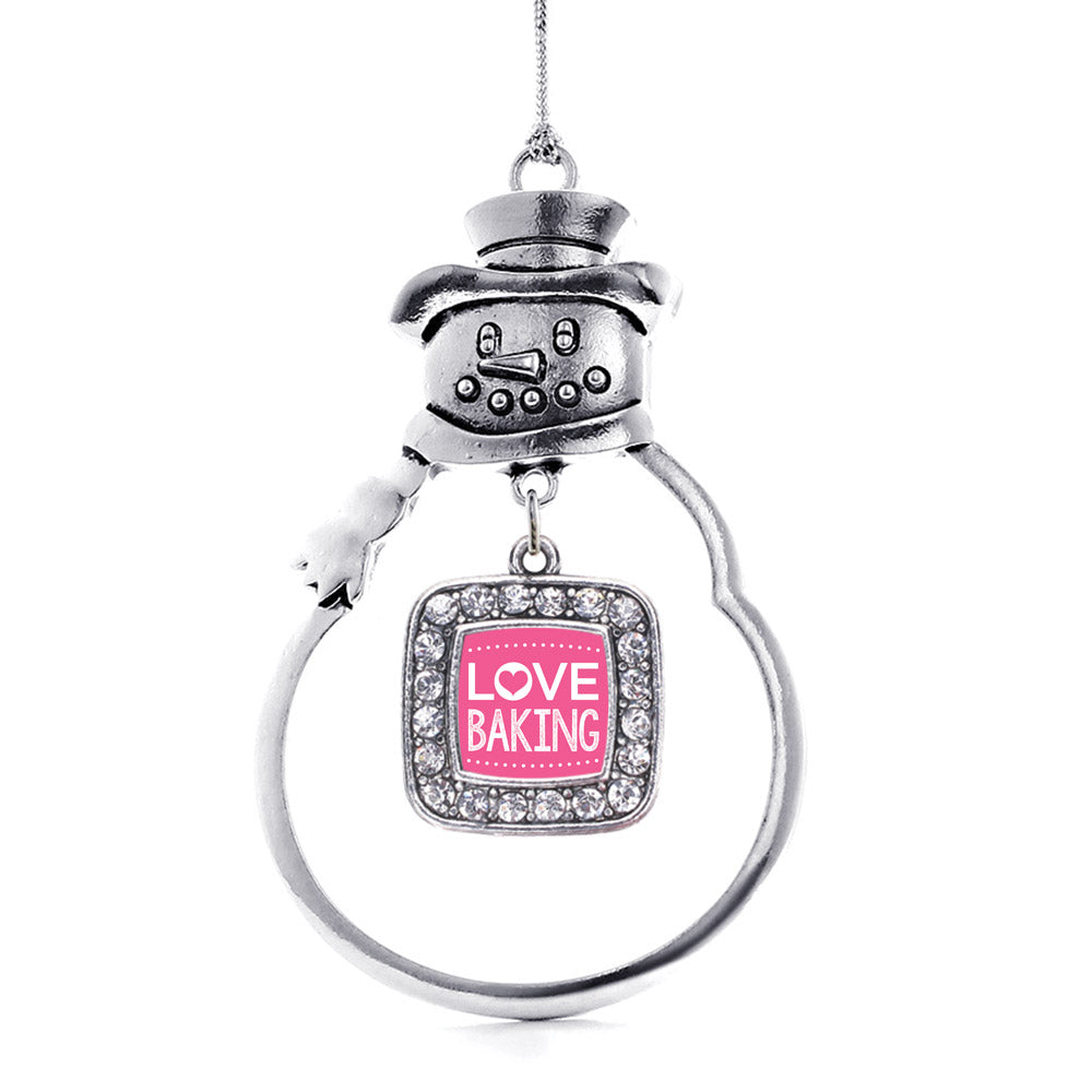 I Love Baking Square Charm Christmas / Holiday Ornament