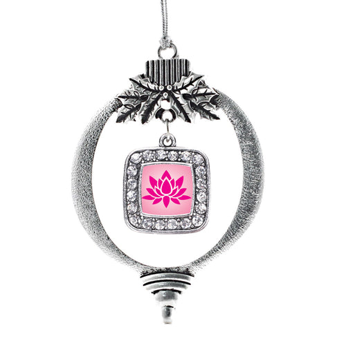Lotus Square Charm Christmas / Holiday Ornament