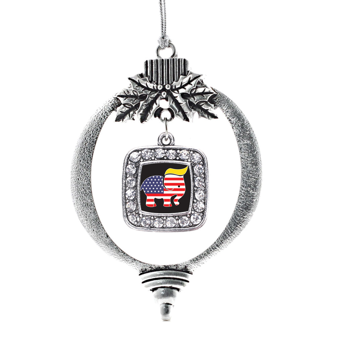 Trumpican Party Logo Square Charm Christmas / Holiday Ornament