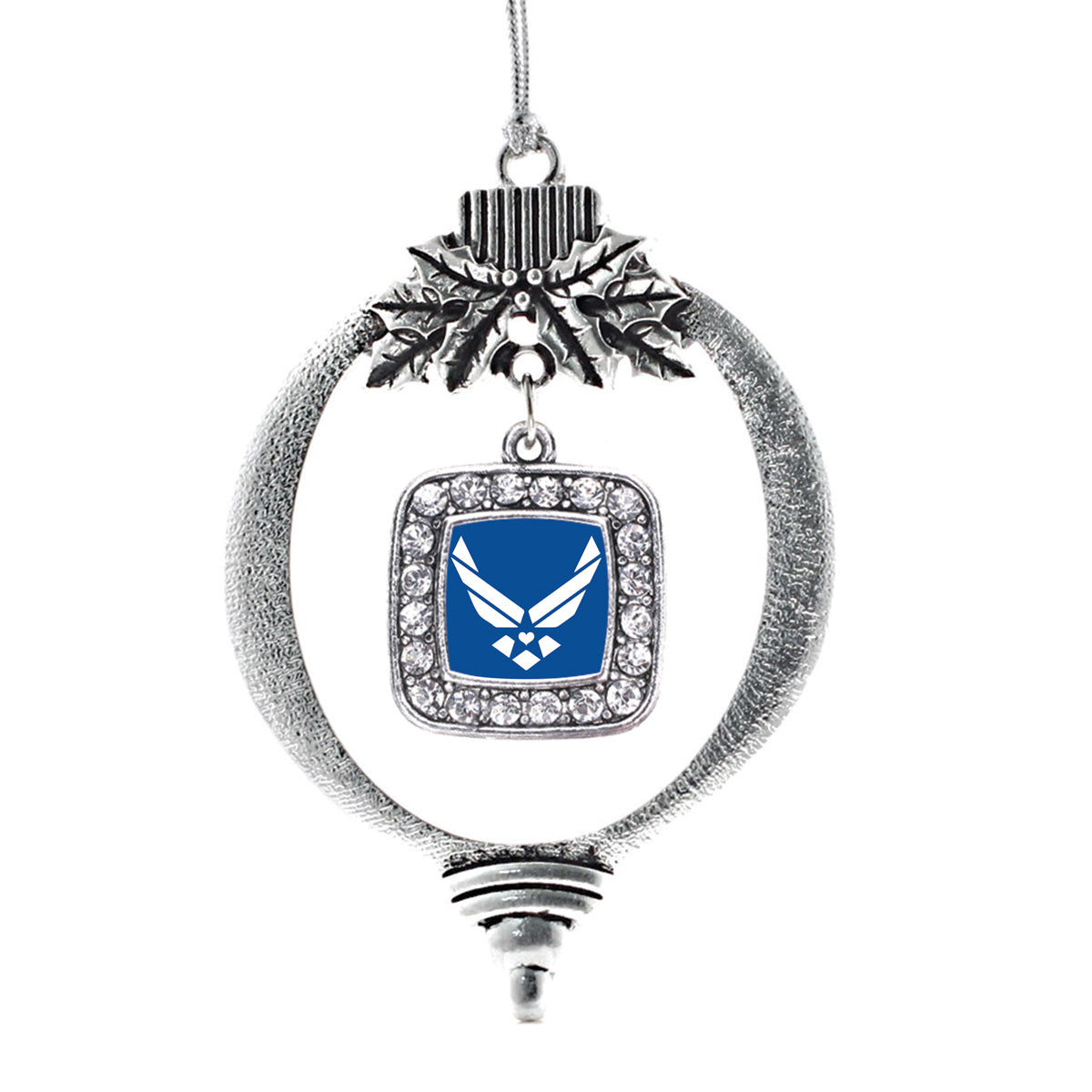 Air Force Symbol Square Charm Christmas / Holiday Ornament