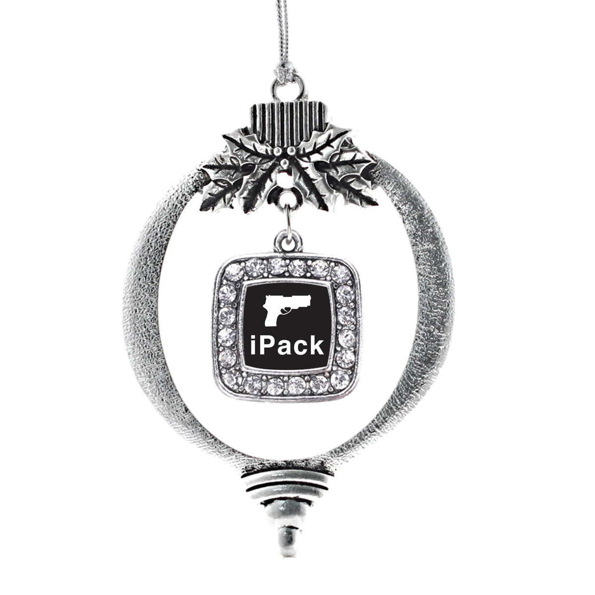 iPack Square Charm Christmas / Holiday Ornament