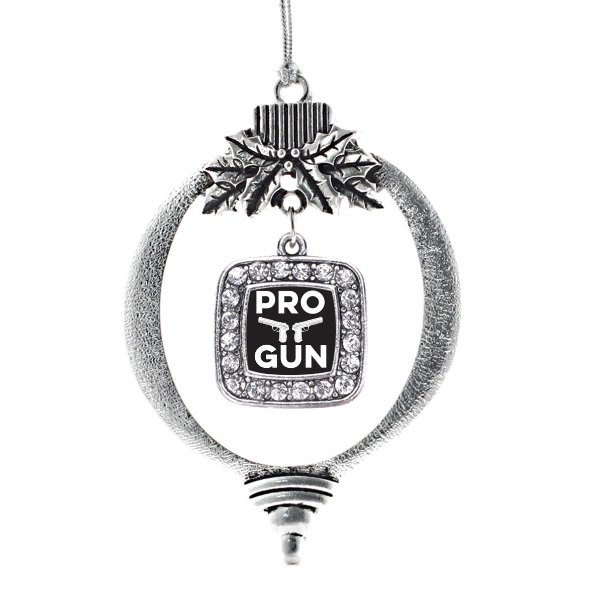 Pro Gun Square Charm Christmas / Holiday Ornament