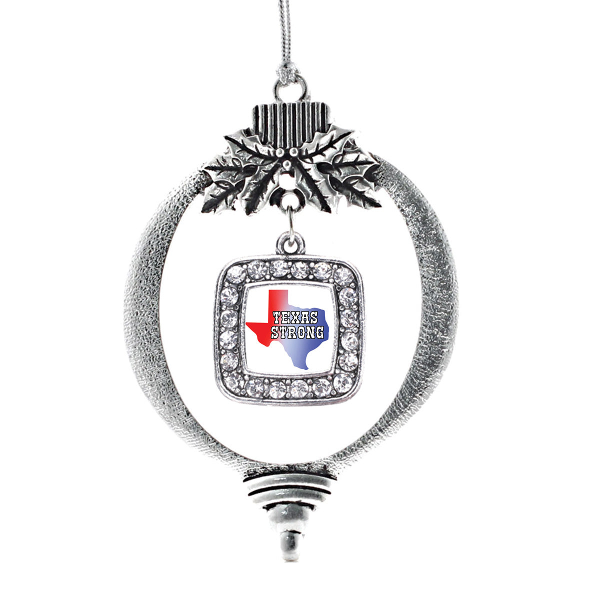 Texas Strong Square Charm Christmas / Holiday Ornament