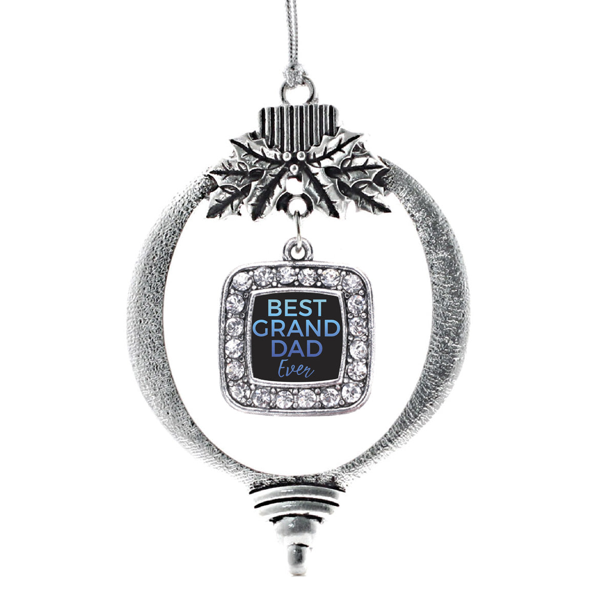 Best Granddad Ever Square Charm Christmas / Holiday Ornament