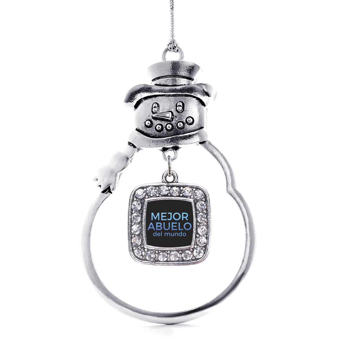 Mejor Abuelo Del Mundo Square Charm Christmas / Holiday Ornament