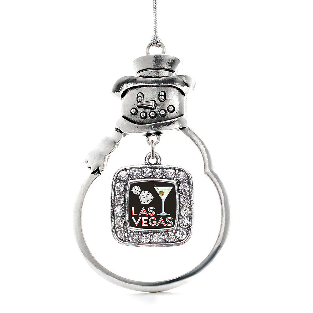 Las Vegas Square Charm Christmas / Holiday Ornament