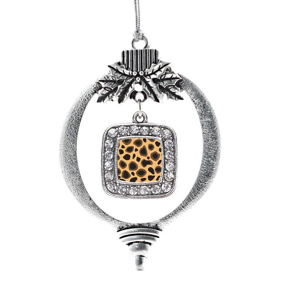Leopard Print Square Charm Christmas / Holiday Ornament
