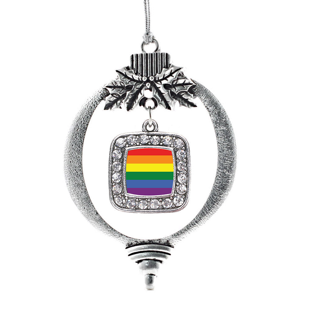 LGBT Pride Square Charm Christmas / Holiday Ornament