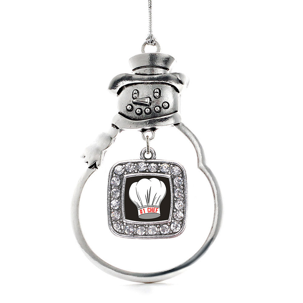 #1 Chef Square Charm Christmas / Holiday Ornament