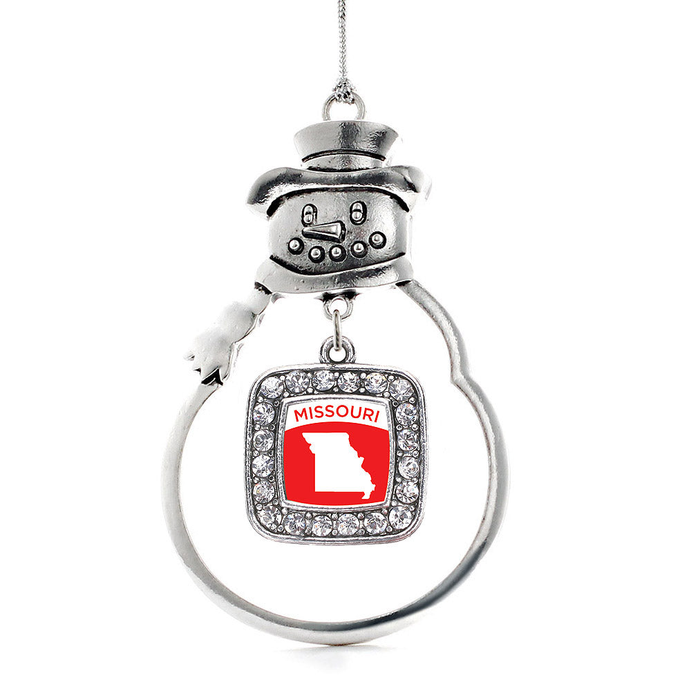 Missouri Outline Square Charm Christmas / Holiday Ornament