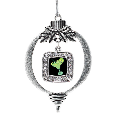 Margarita Lovers Square Charm Christmas / Holiday Ornament