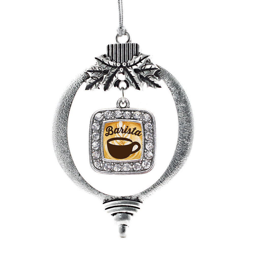 Barista Square Charm Christmas / Holiday Ornament
