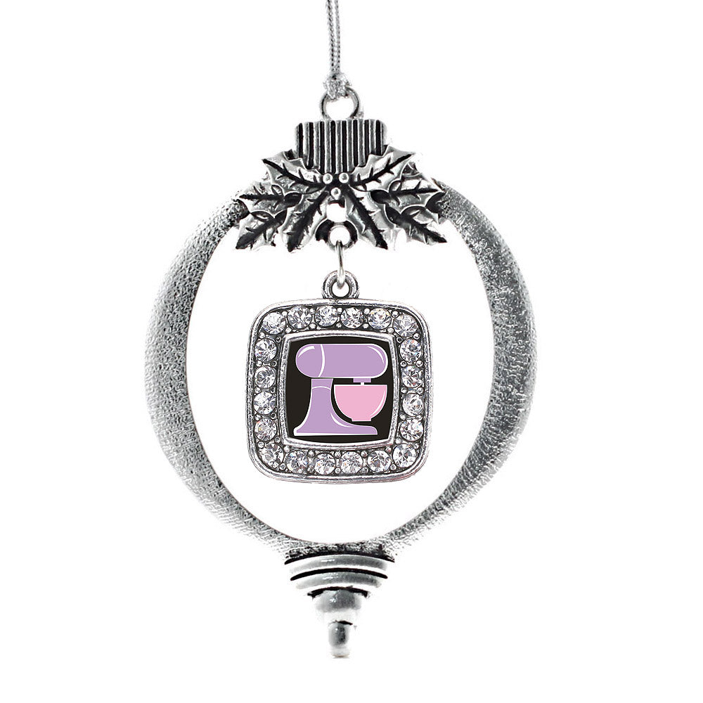 Baking Mixer Square Charm Christmas / Holiday Ornament