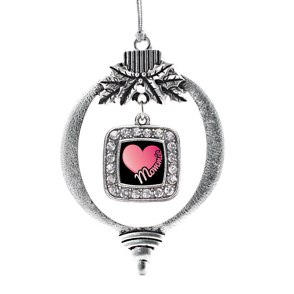 Mommie Square Charm Christmas / Holiday Ornament
