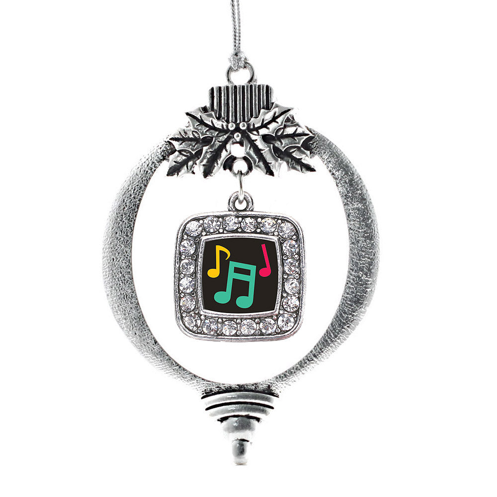 Musical Notes Square Charm Christmas / Holiday Ornament