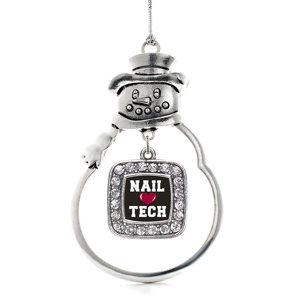 Nail Tech Square Charm Christmas / Holiday Ornament