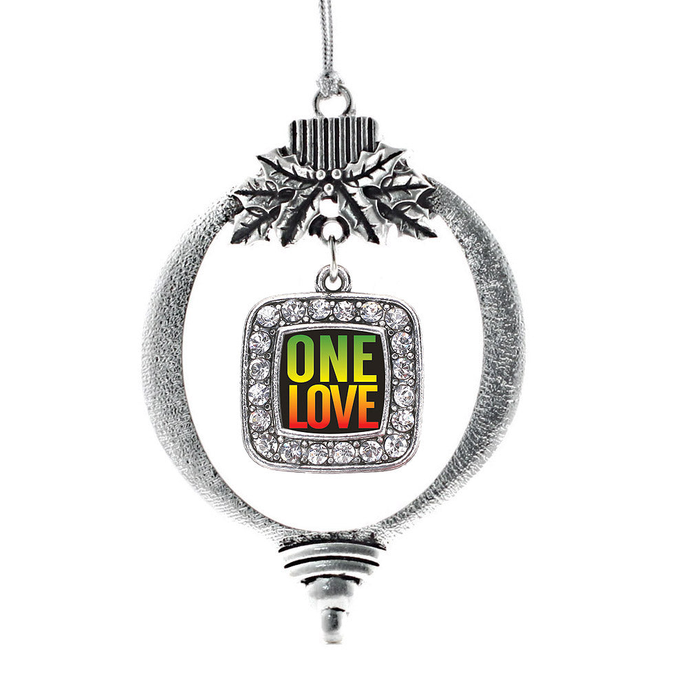 One Love Square Charm Christmas / Holiday Ornament
