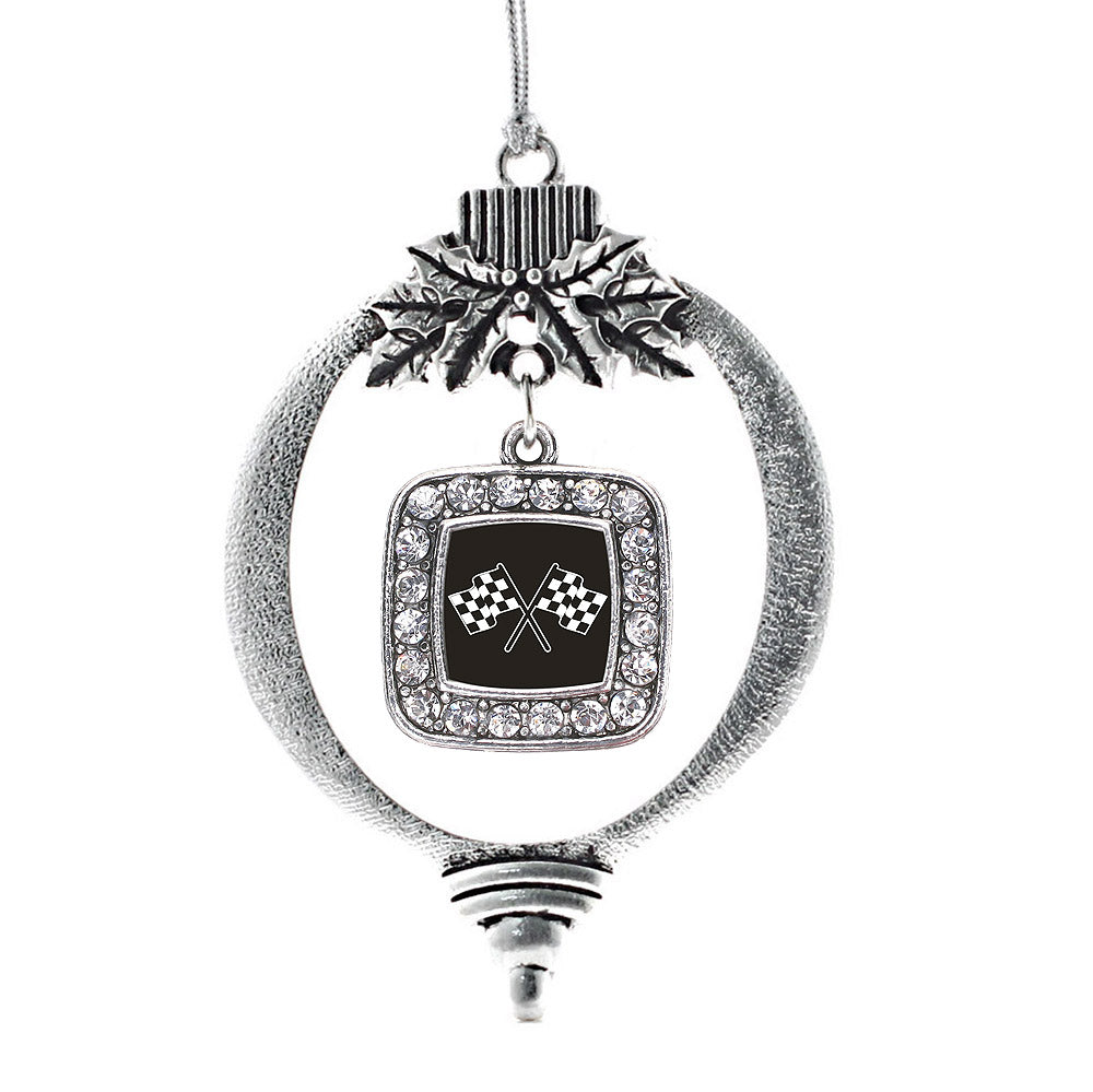 Racing Flags Square Charm Christmas / Holiday Ornament