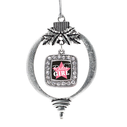 Rodeo Girl Square Charm Christmas / Holiday Ornament