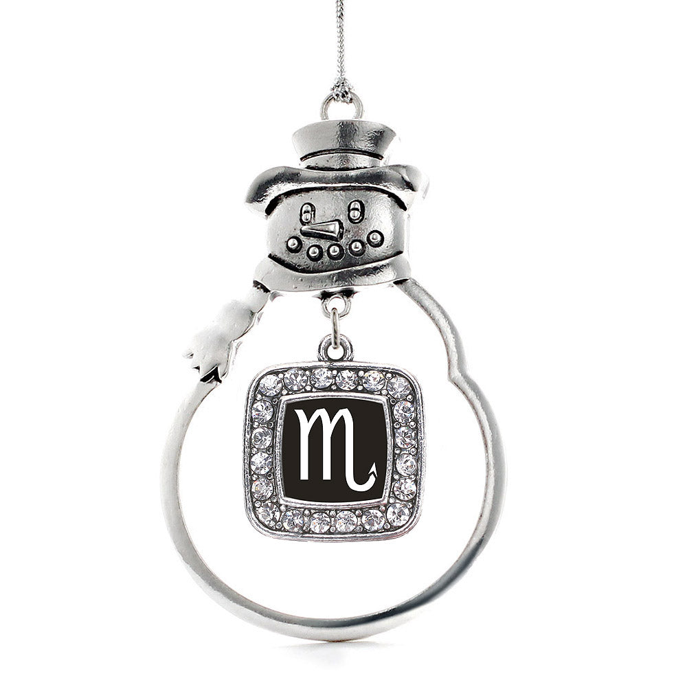 Scorpio Zodiac Square Charm Christmas / Holiday Ornament