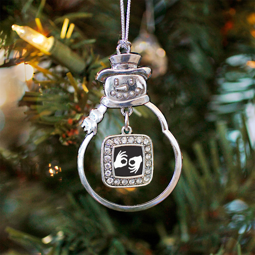 Sign Language Interpreter Square Charm Christmas / Holiday Ornament