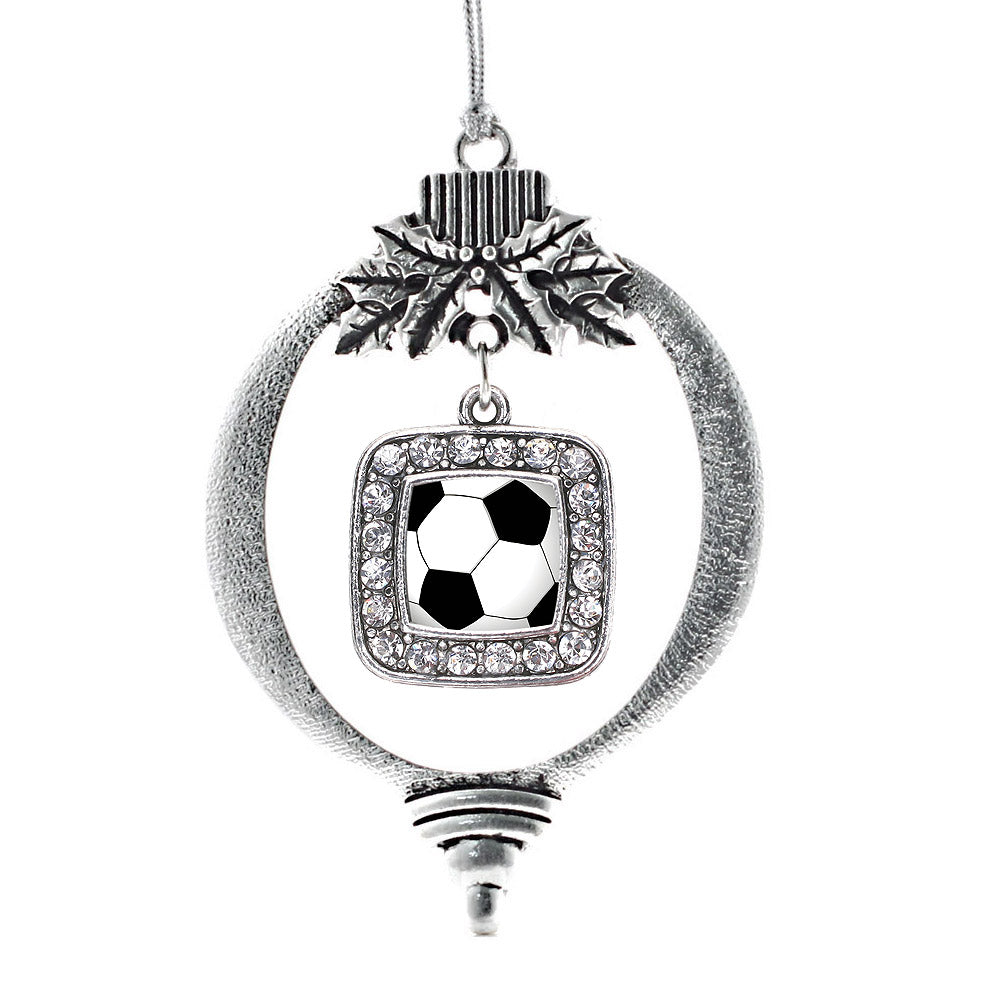 Soccer Square Charm Christmas / Holiday Ornament