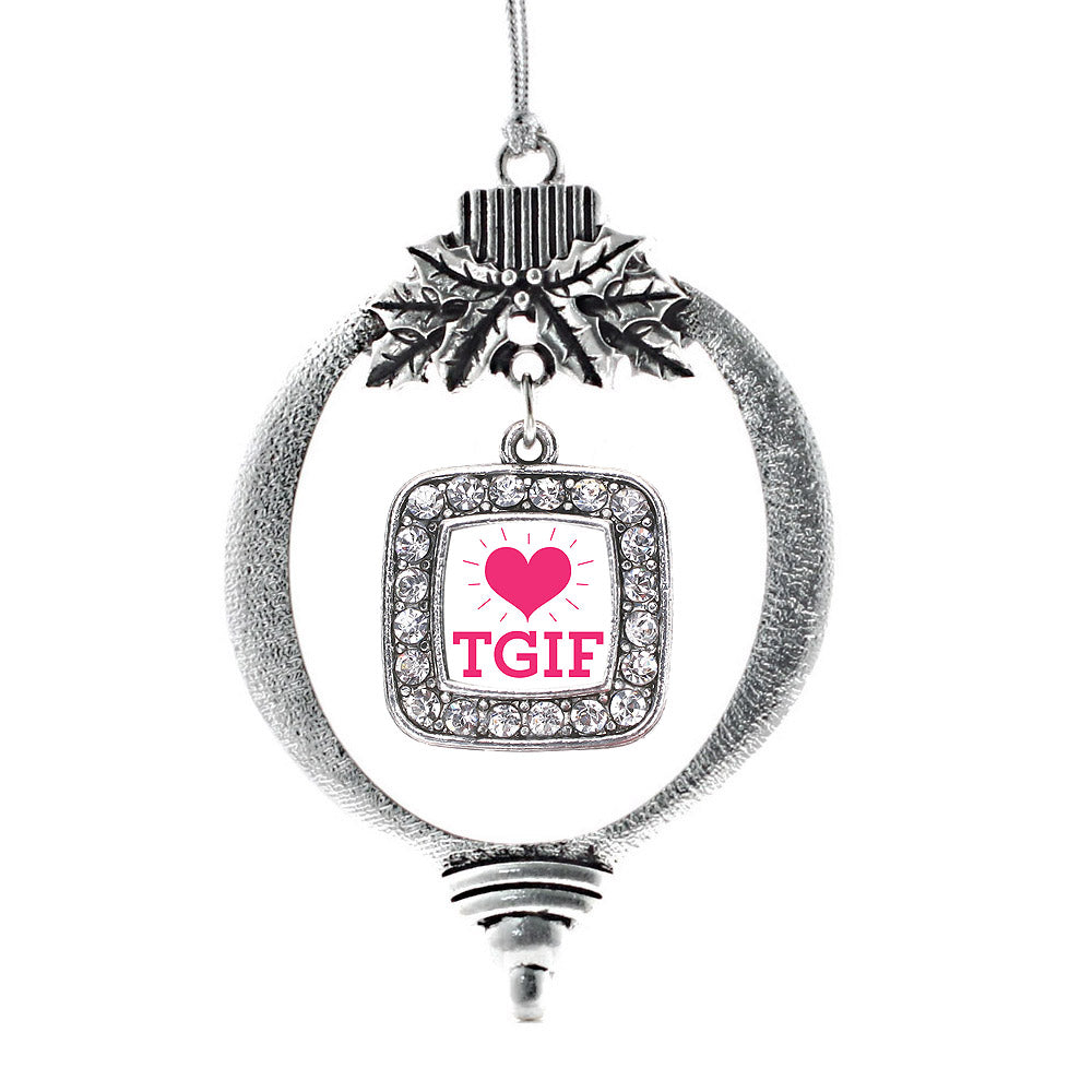 TGIF Square Charm Christmas / Holiday Ornament