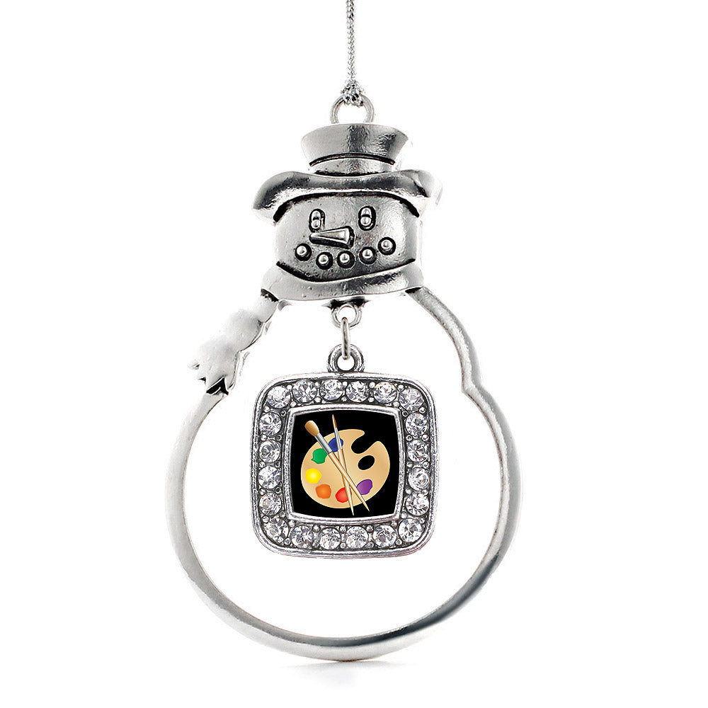 The Artist Square Charm Christmas / Holiday Ornament