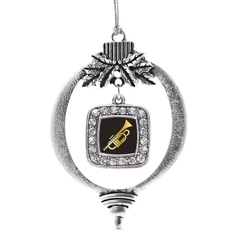 Trumpet Square Charm Christmas / Holiday Ornament