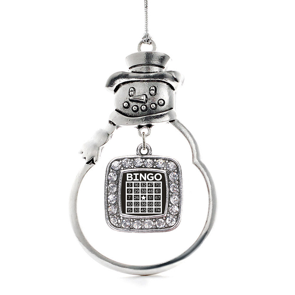 Bingo Square Charm Christmas / Holiday Ornament
