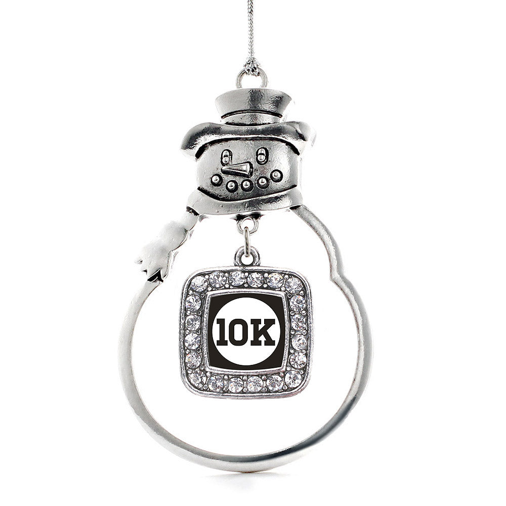 10k Runners Square Charm Christmas / Holiday Ornament