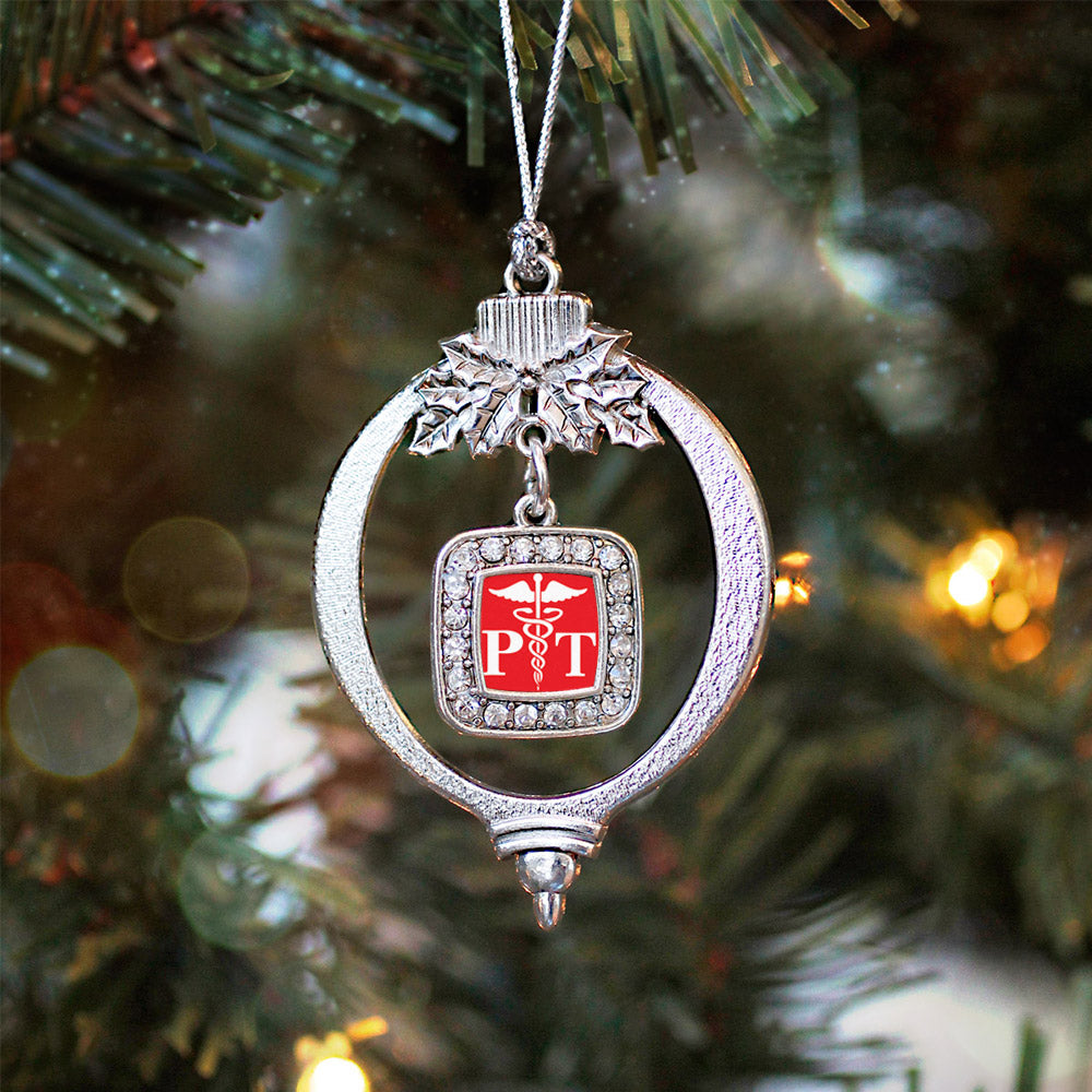 Physical Therapist Square Charm Christmas / Holiday Ornament