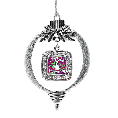 Love To Garden Square Charm Christmas / Holiday Ornament