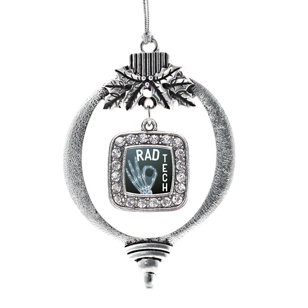 Rad Tech Square Charm Christmas / Holiday Ornament