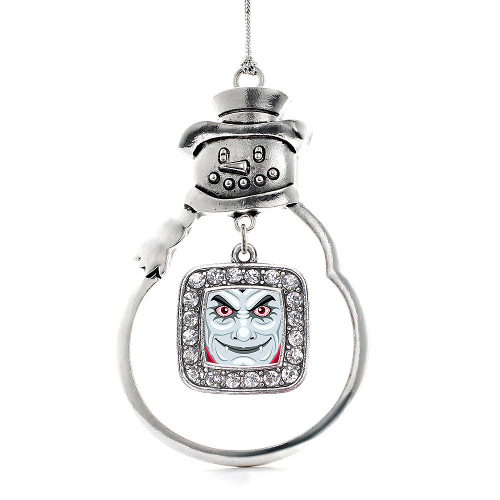 Thirsty Vampire Square Charm Christmas / Holiday Ornament