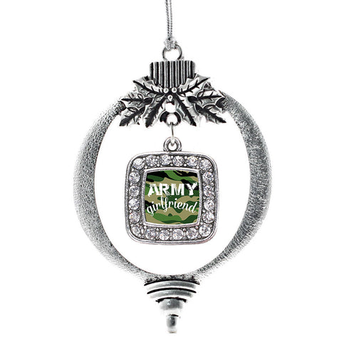 Army Girlfriend Square Charm Christmas / Holiday Ornament