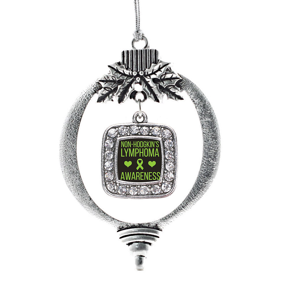 Non Hodgkins Lymphoma Support Square Charm Christmas / Holiday Ornament