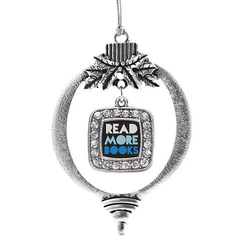 Read More Books Square Charm Christmas / Holiday Ornament