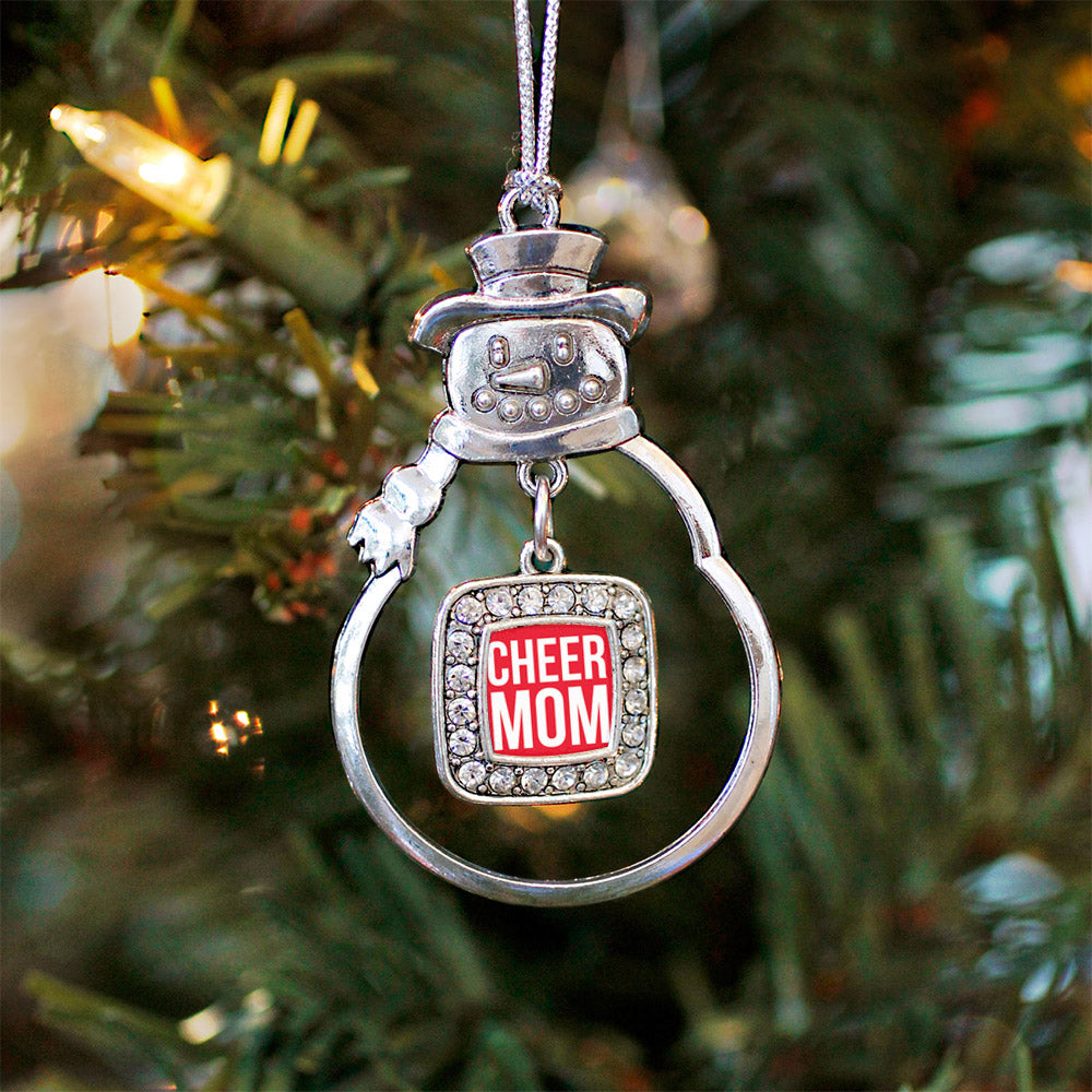 Cheer Mom Square Charm Christmas / Holiday Ornament