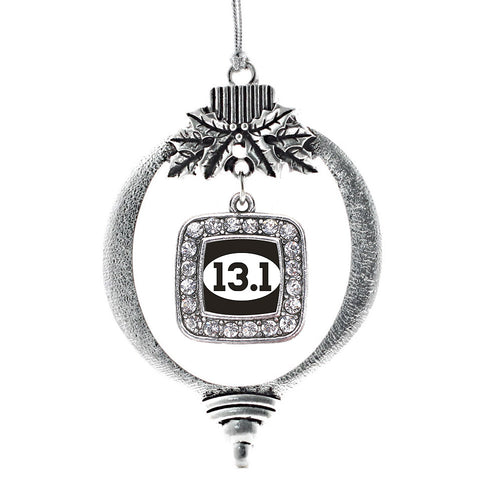 13.1 Runners Square Charm Christmas / Holiday Ornament