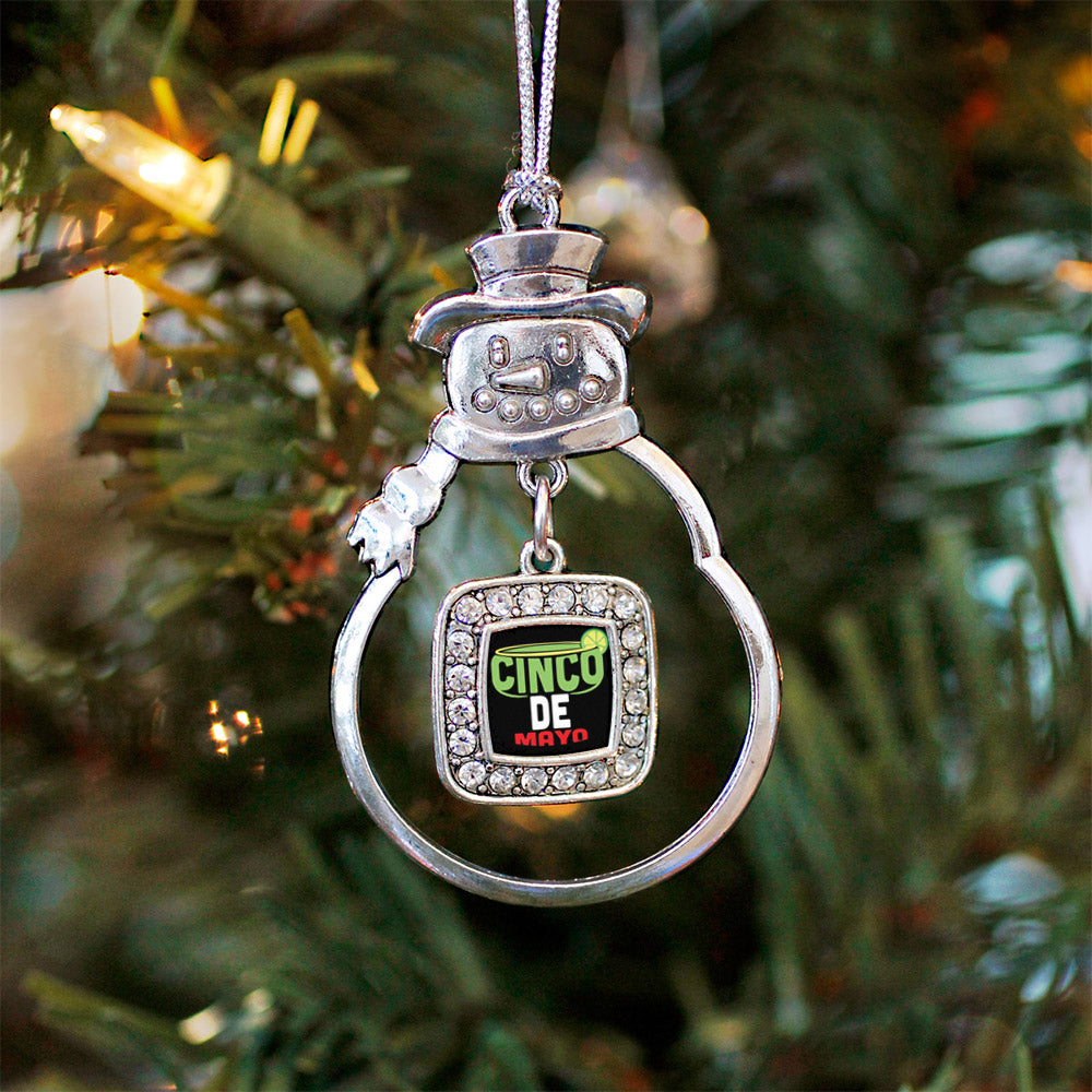 Cinco De Mayo Square Charm Christmas / Holiday Ornament