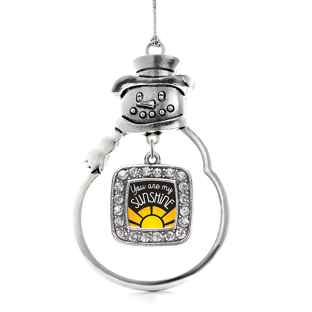 You Are My Sunshine Square Charm Christmas / Holiday Ornament