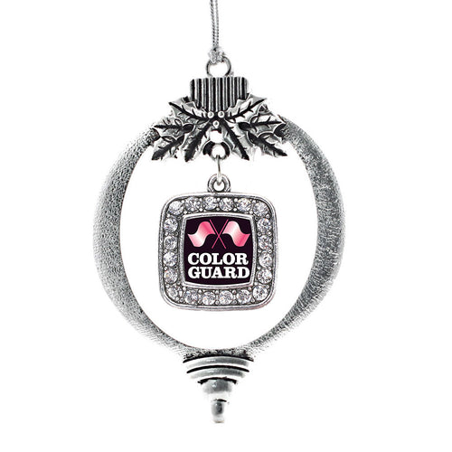 Color Guard Square Charm Christmas / Holiday Ornament