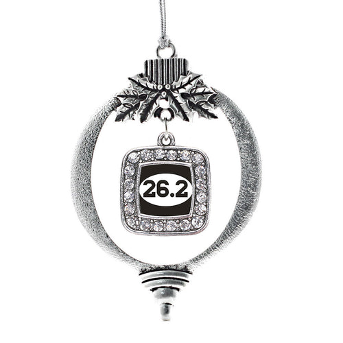 26.2 Runners Square Charm Christmas / Holiday Ornament