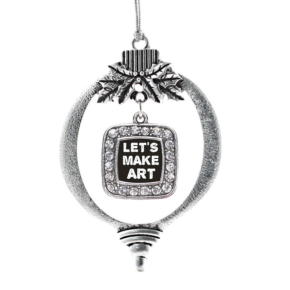 Let's Make Art Square Charm Christmas / Holiday Ornament