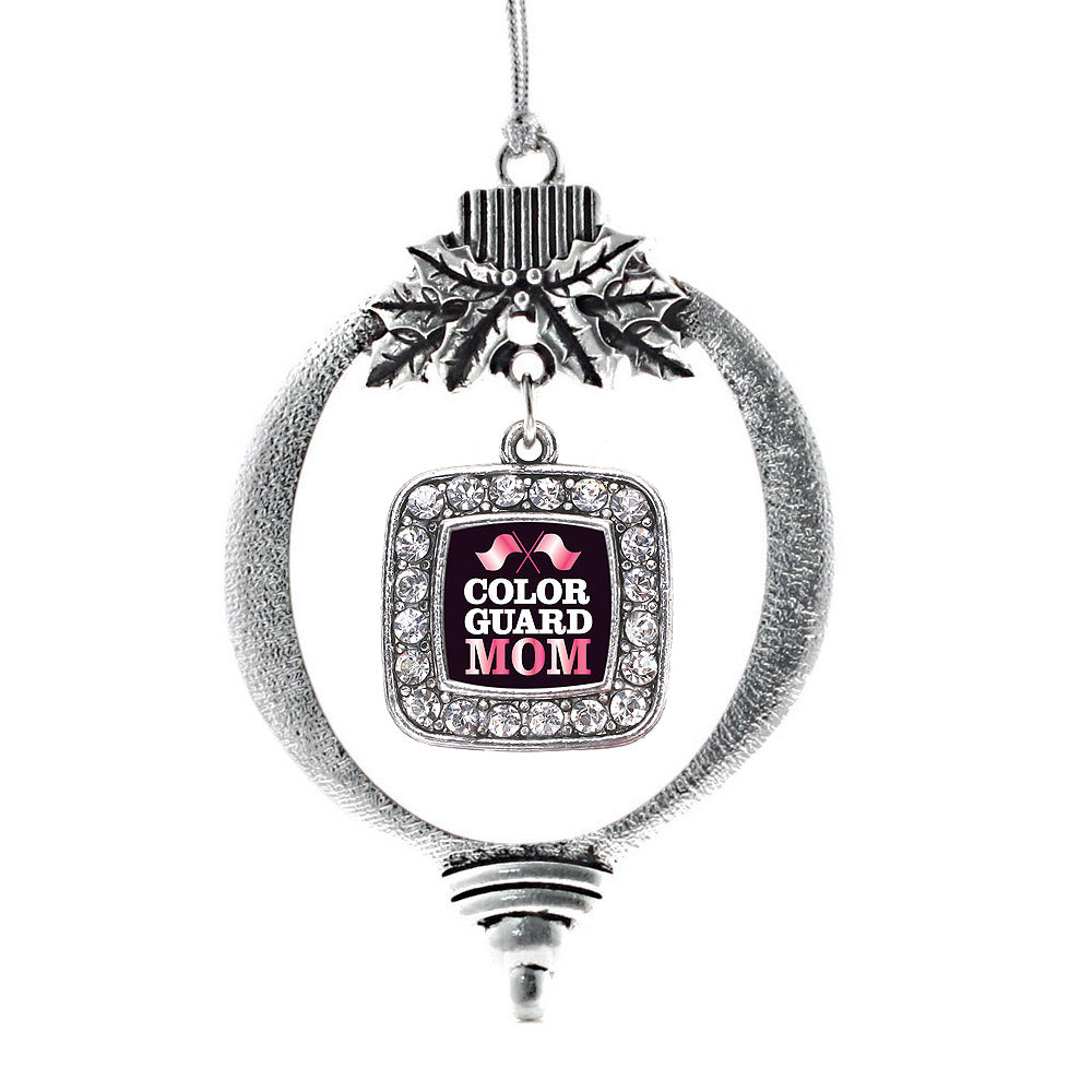 Color Guard Mom Square Charm Christmas / Holiday Ornament